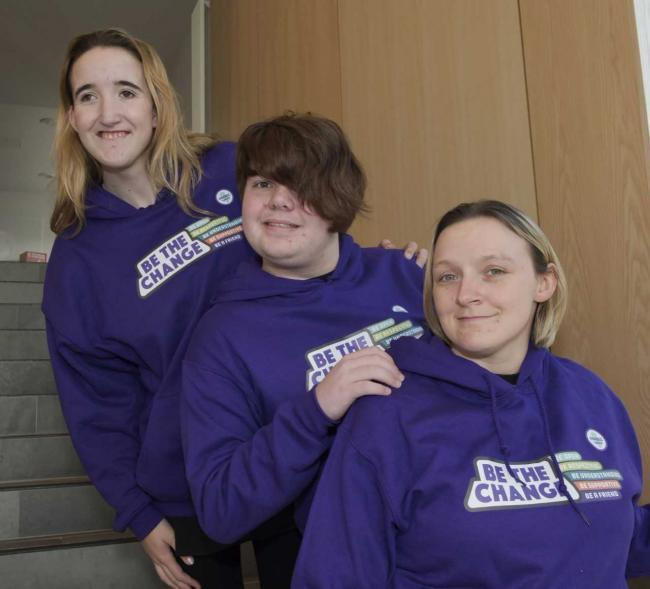 Lucy McKee (top left), with fellow Change Champions, is asking the public to 'be the change' and challenge bullying towards people who have learning disabilities