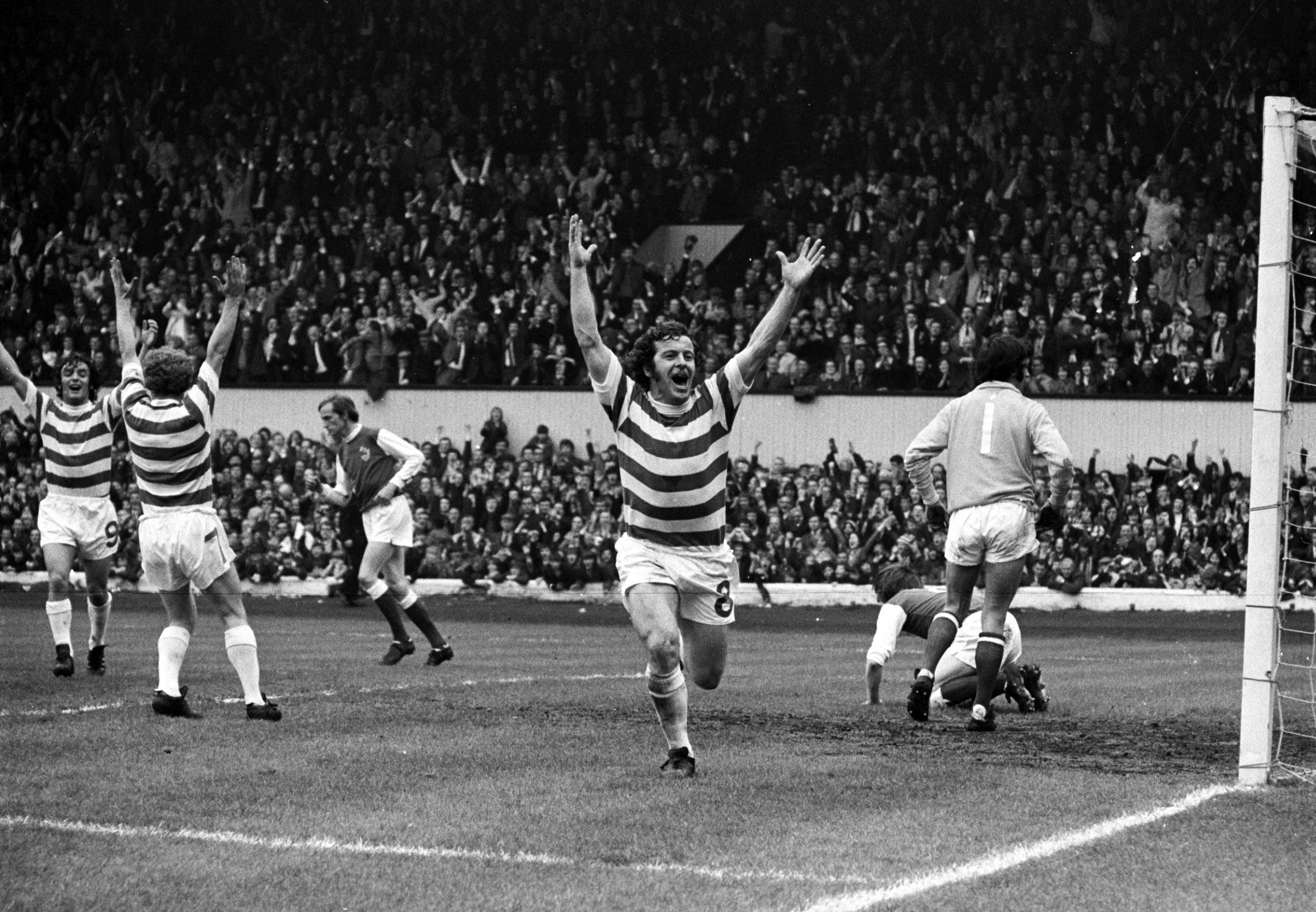 Dixie Deans doing what he did best - which was scoring goals for Celtic