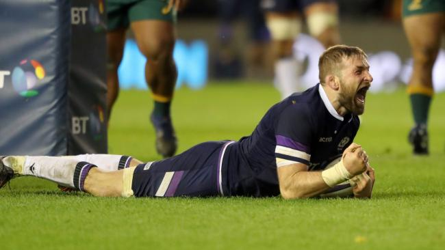 John Barclay scores Scotland's seventh try