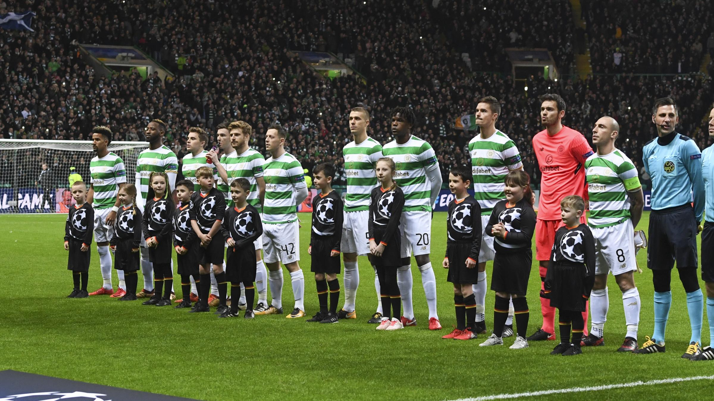 Celtic ahead of kick-off
