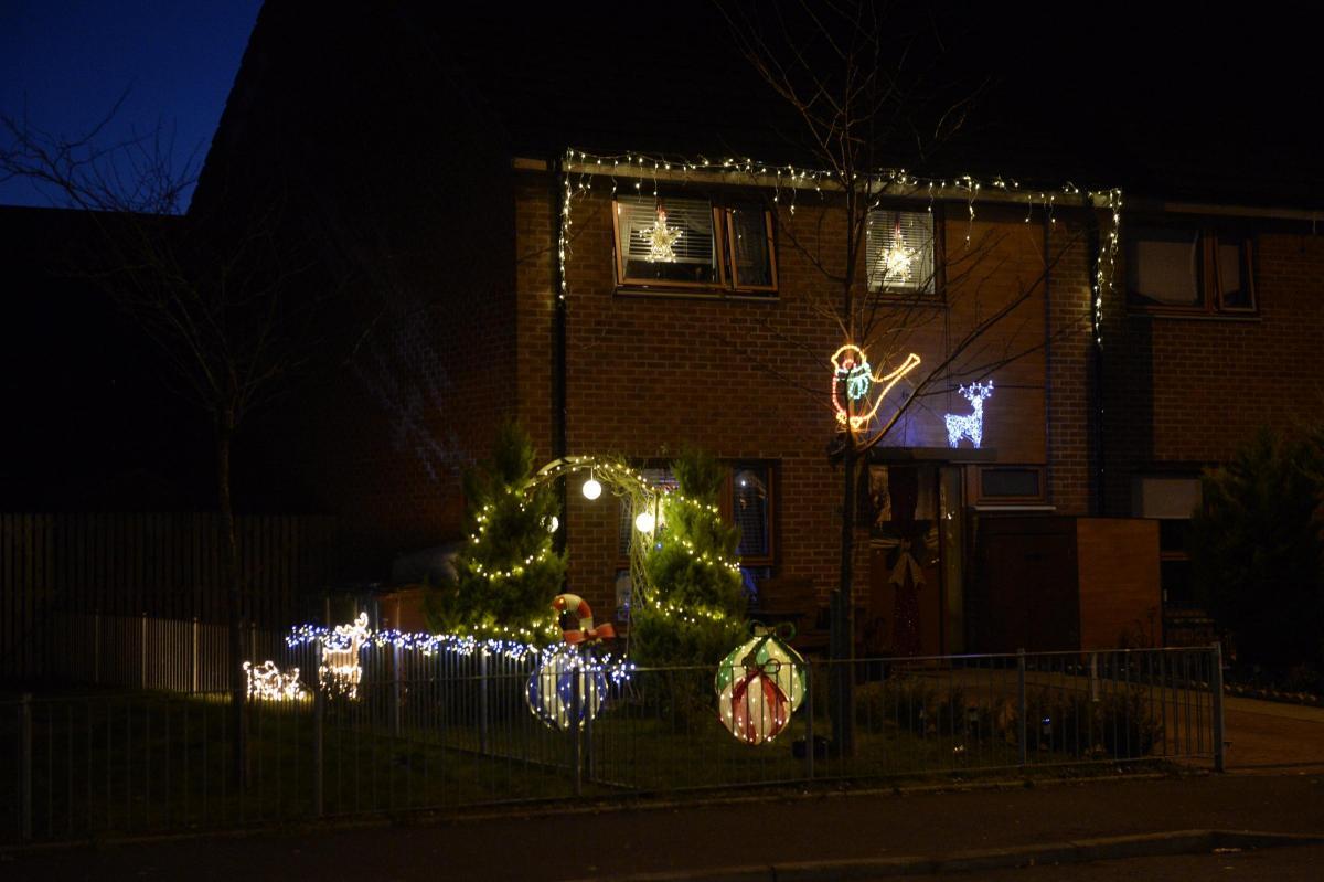 christmas home lighting. Woman\u0027s Home Light Display Becomes Coatbridge\u0027s Christmas Attraction Lighting