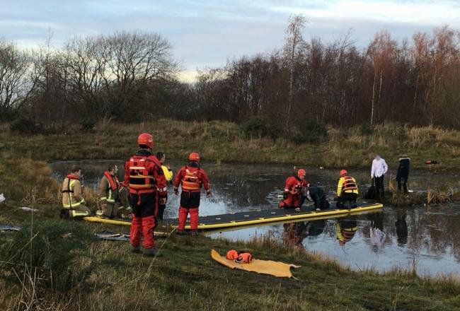 Polmadie firefighters rescue schoolboys in Cambuslang
