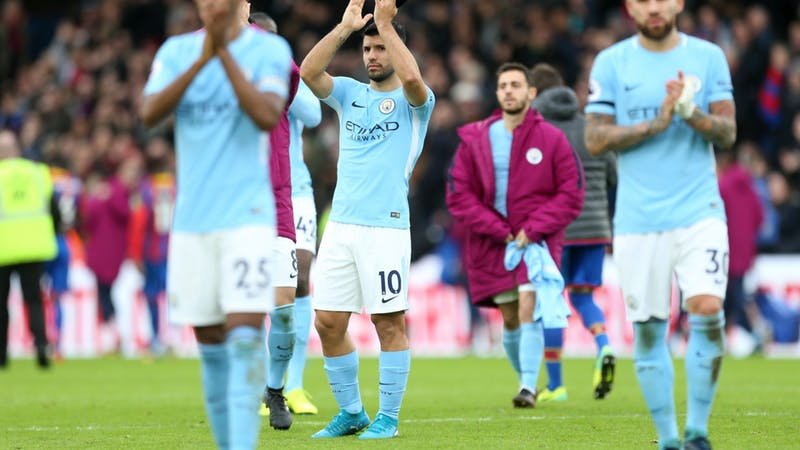 Manchester City's winning run ends at Crystal Palace