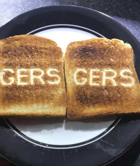 Old Firm fans go crazy for Rangers or Celtic toast