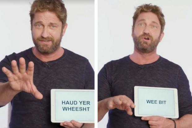 Bawbag': Gerard Butler gives the internet hilarious lesson on