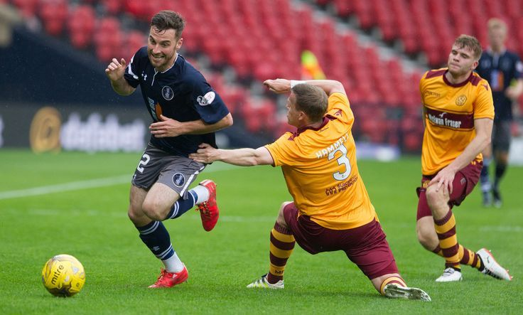 Chris Duff skips past Motherwell's Stevie Hammell during his stint at Queen's Park