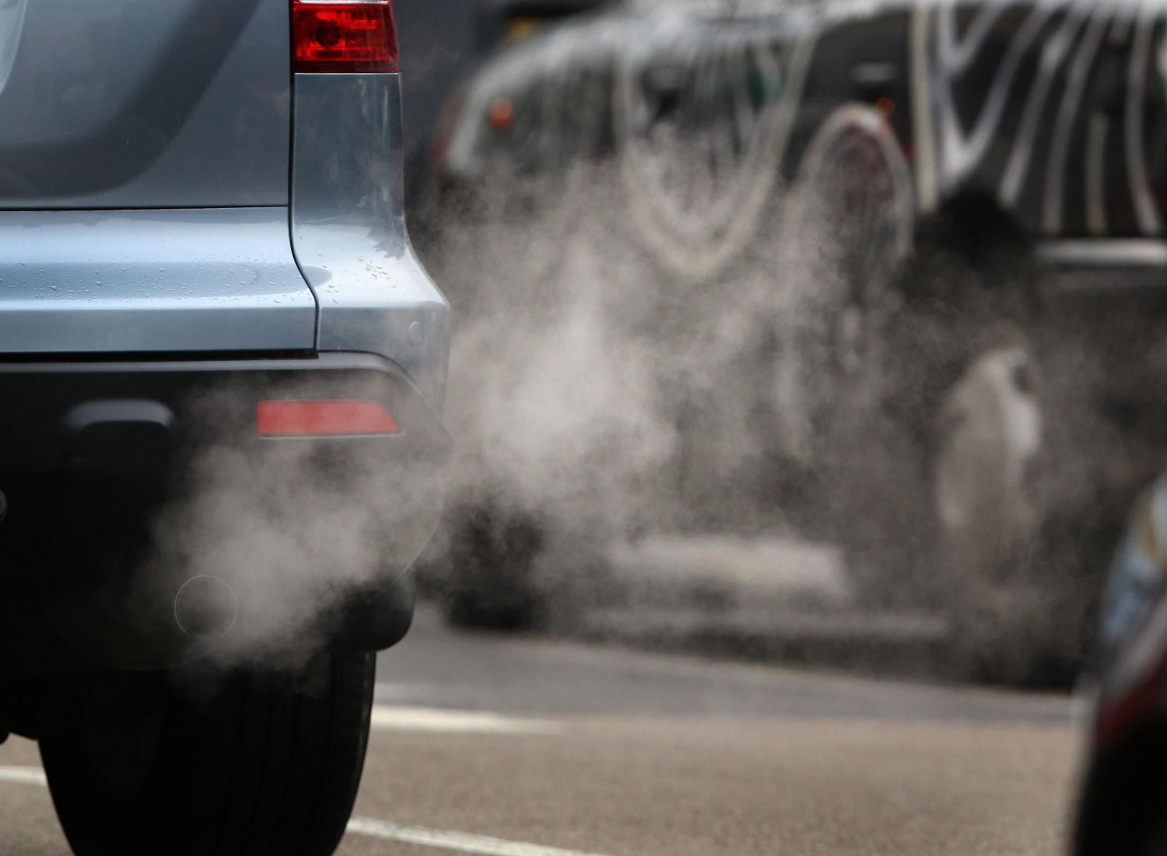 Picture of car exhaust fumes