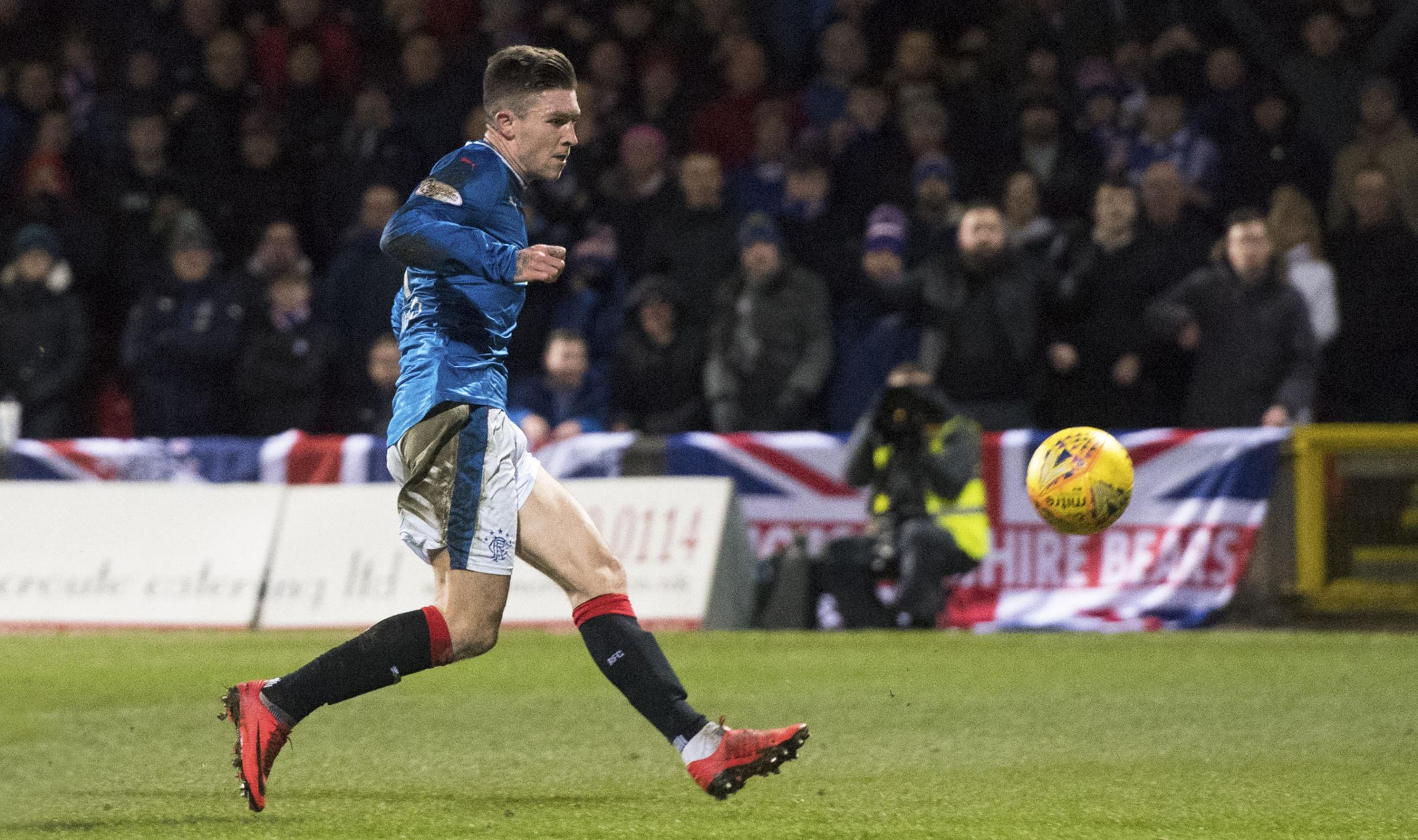 Josh Windass converts at the end of a fine move to put Rangers ahead against Partick Thistle