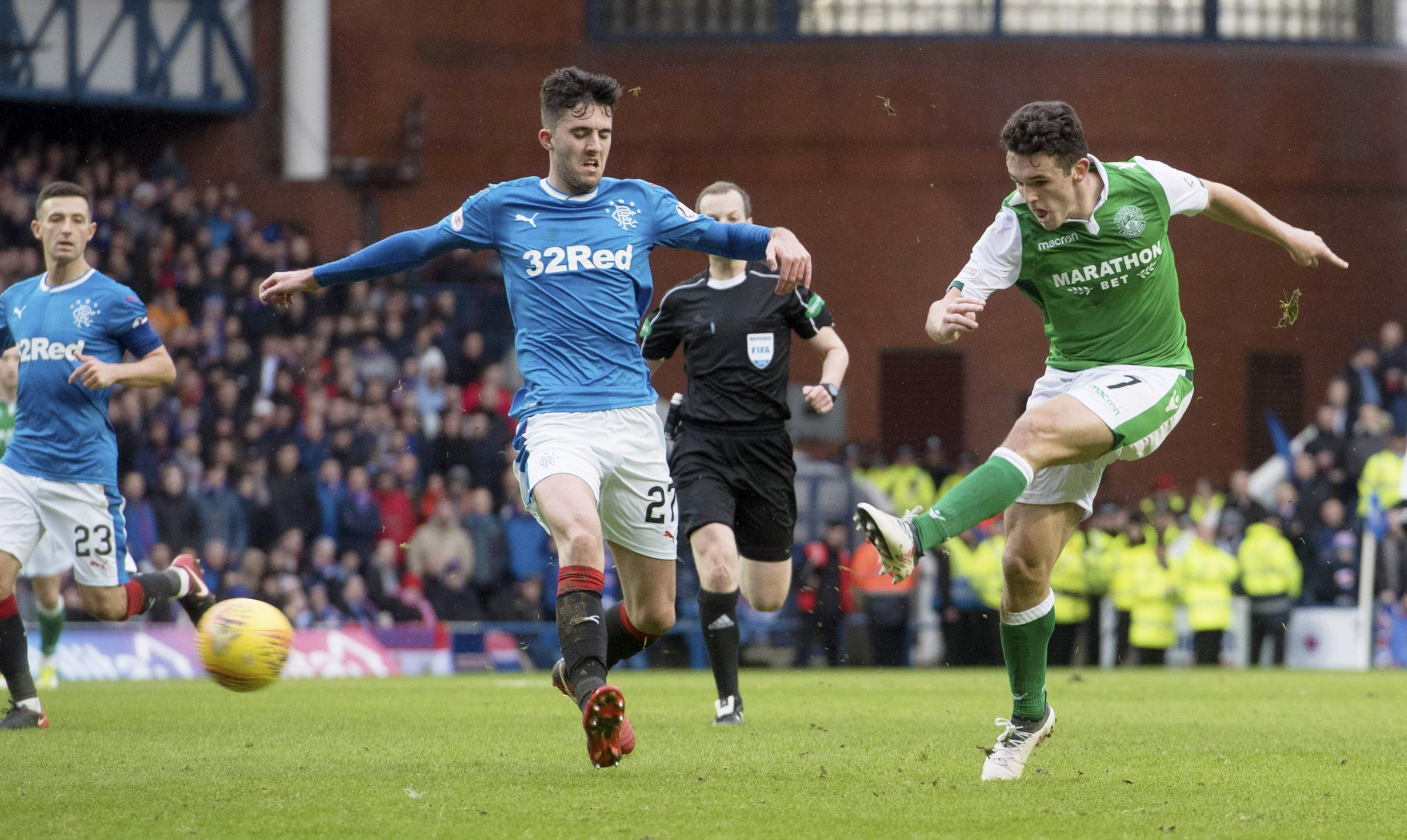 Hibernian's John McGinn goal and performance at Ibrox impressed his manager Neil Lennon