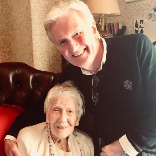 Taylor Ferguson with his mother Patricia who has died at the age of 100
