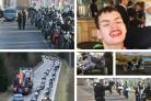 Hundreds of bikers from across UK accompany Motherwell teen on final journey for funeral