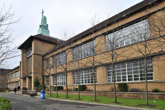 Photo Jamie Simpson.  .Evening Times post war listed building feature-JS.Pictured: Notre Dame High School, 160 Observatory Road.  Category A Listed.