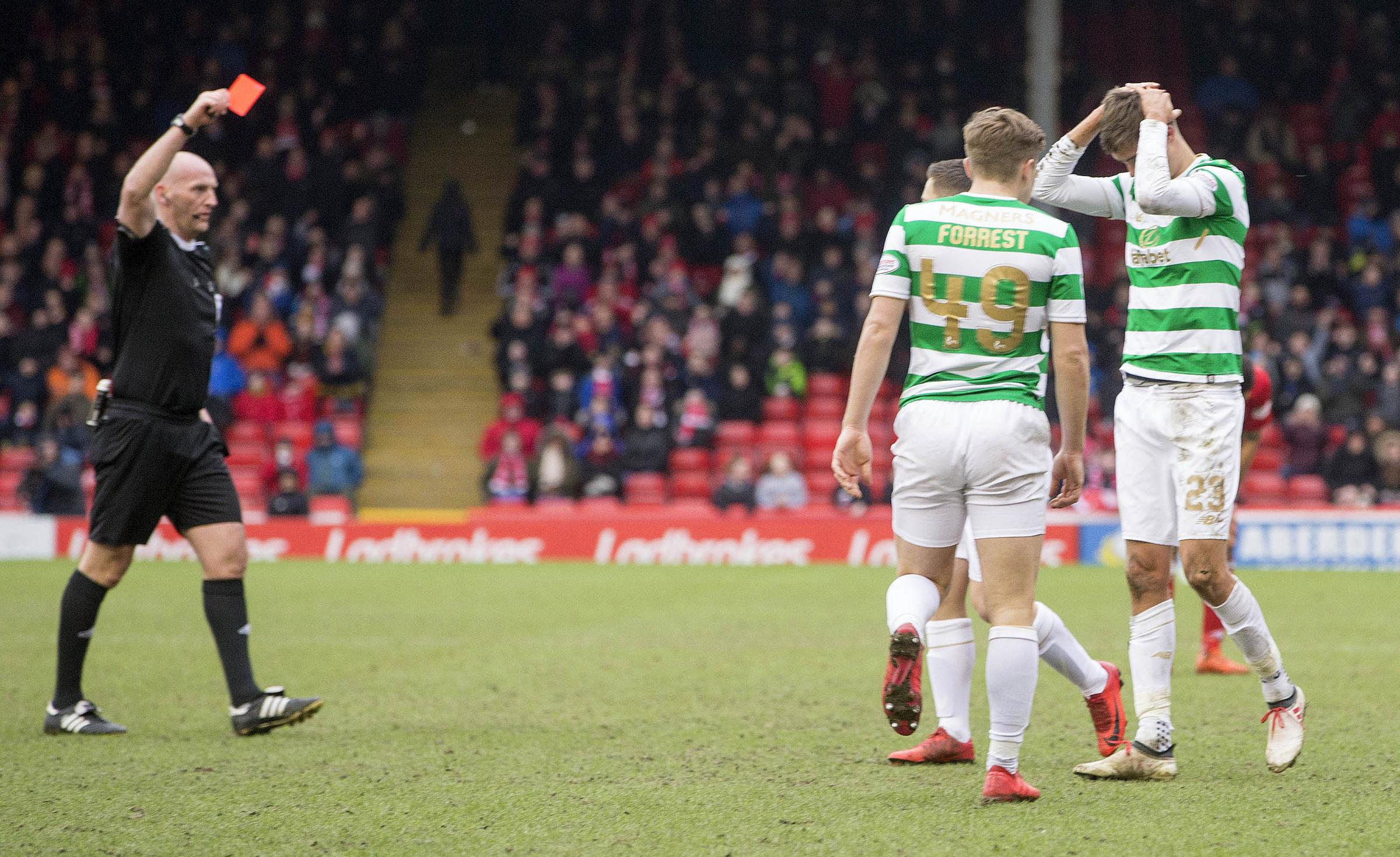 Mikael Lustig's suspension could mean he misses the game against Rangers on Match 11. (Pic: Jeff Holmes/PA wire)
