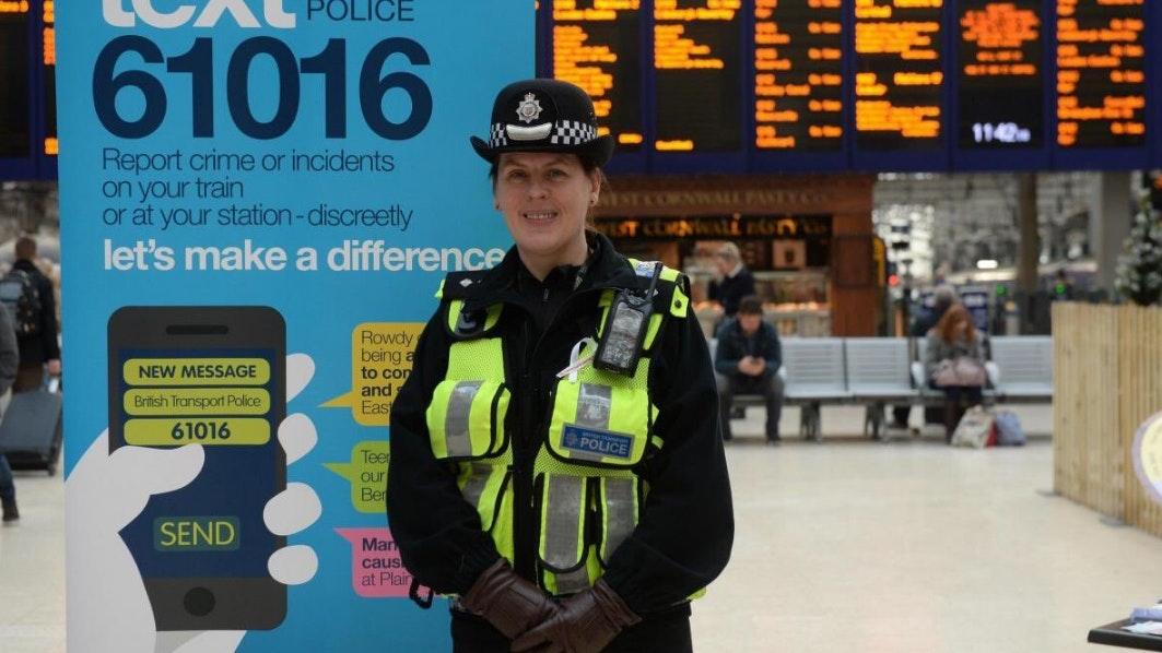 Inspector Lynda Lang at Glasgow Central Station