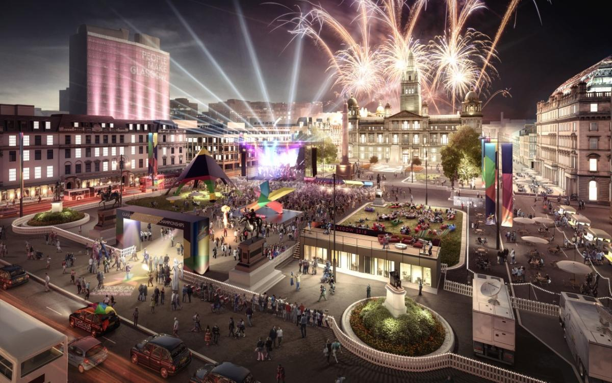 George Square will become the beating heart of a vibrant Cultural Festival alongside the main event