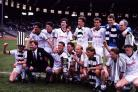 St. Mirren celebrate after defeating Dundee Utd in the 1987 Scottish Cup Final