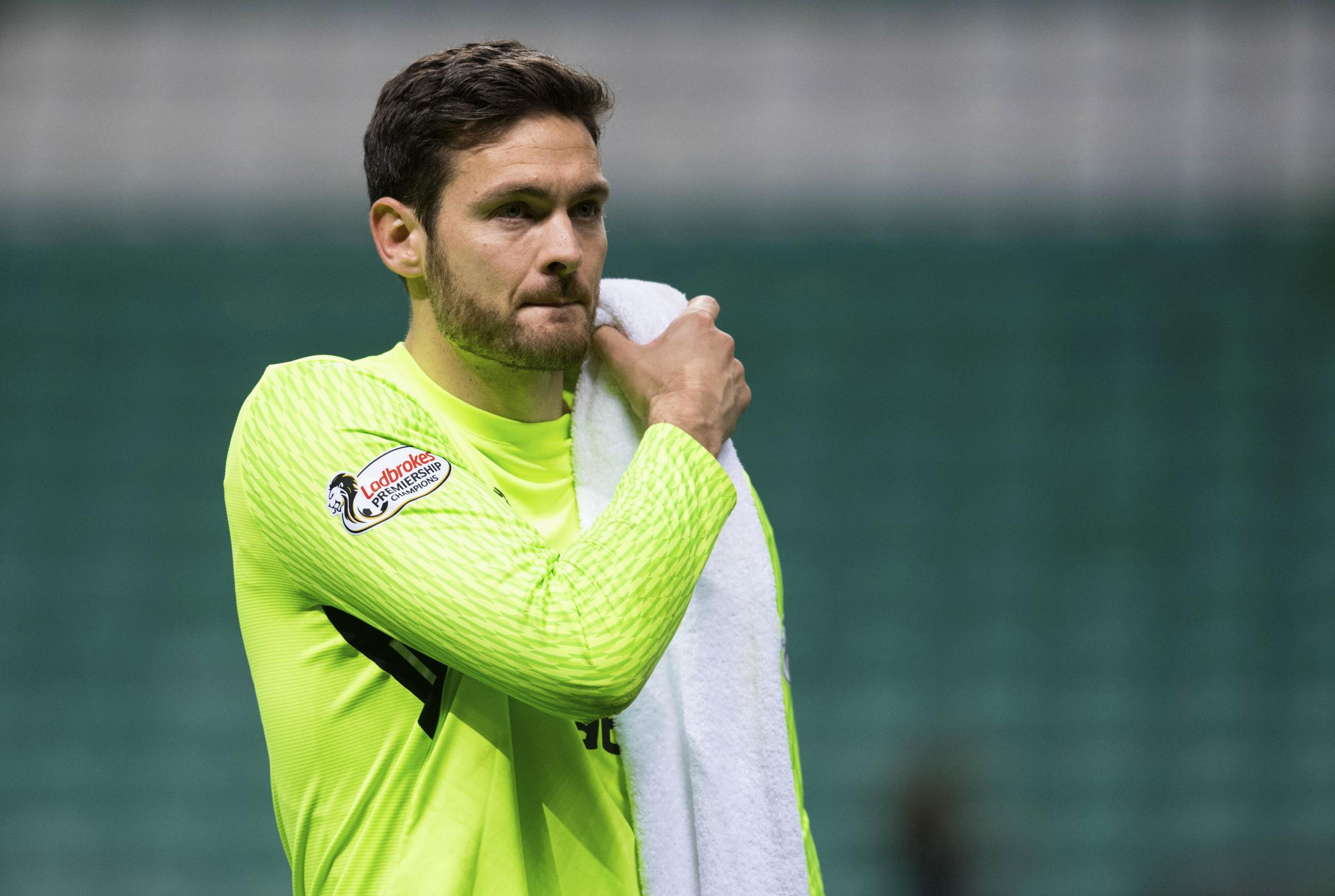 Celtic goalkeeper Craig Gordon after the Dundee game on Wednesday night.