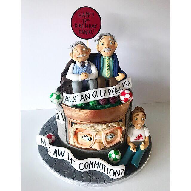 Glasgow Baker Unveils Incredible Still Game Inspired Cake Evening