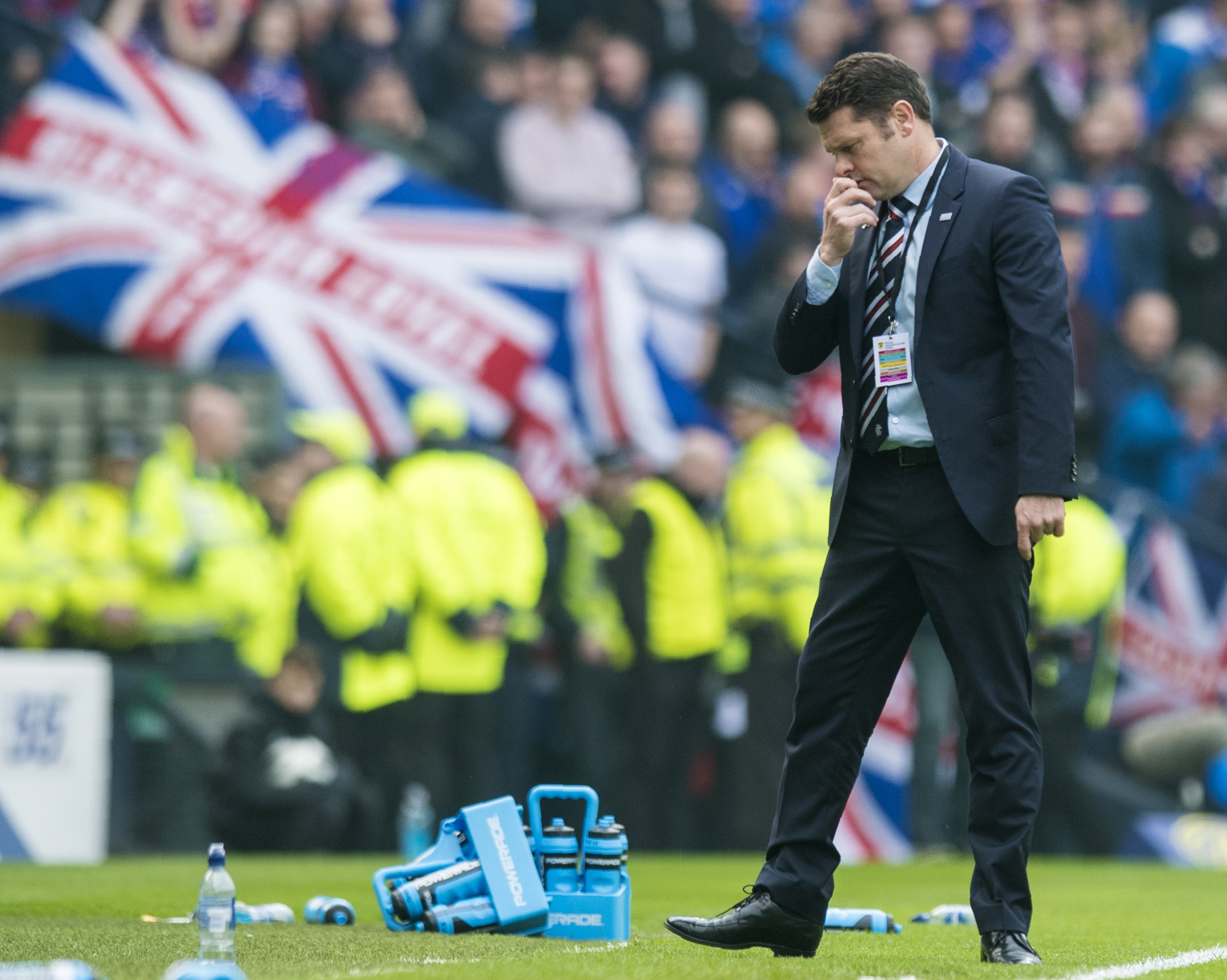 Graeme Murty was frustrated by his team's performance against Celtic but has faith Rangers can still finish second    Photograph: SNS