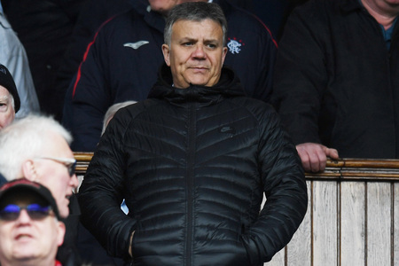 Rangers Director of Football Mark Allen in the stands..