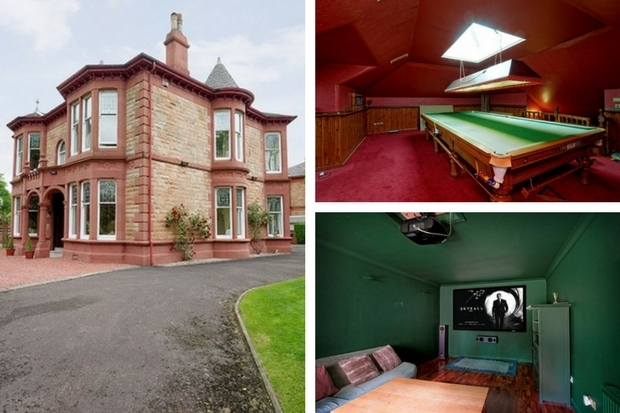 £1m mansion in Glasgow's South Side has its own SNOOKER HALL and cinema