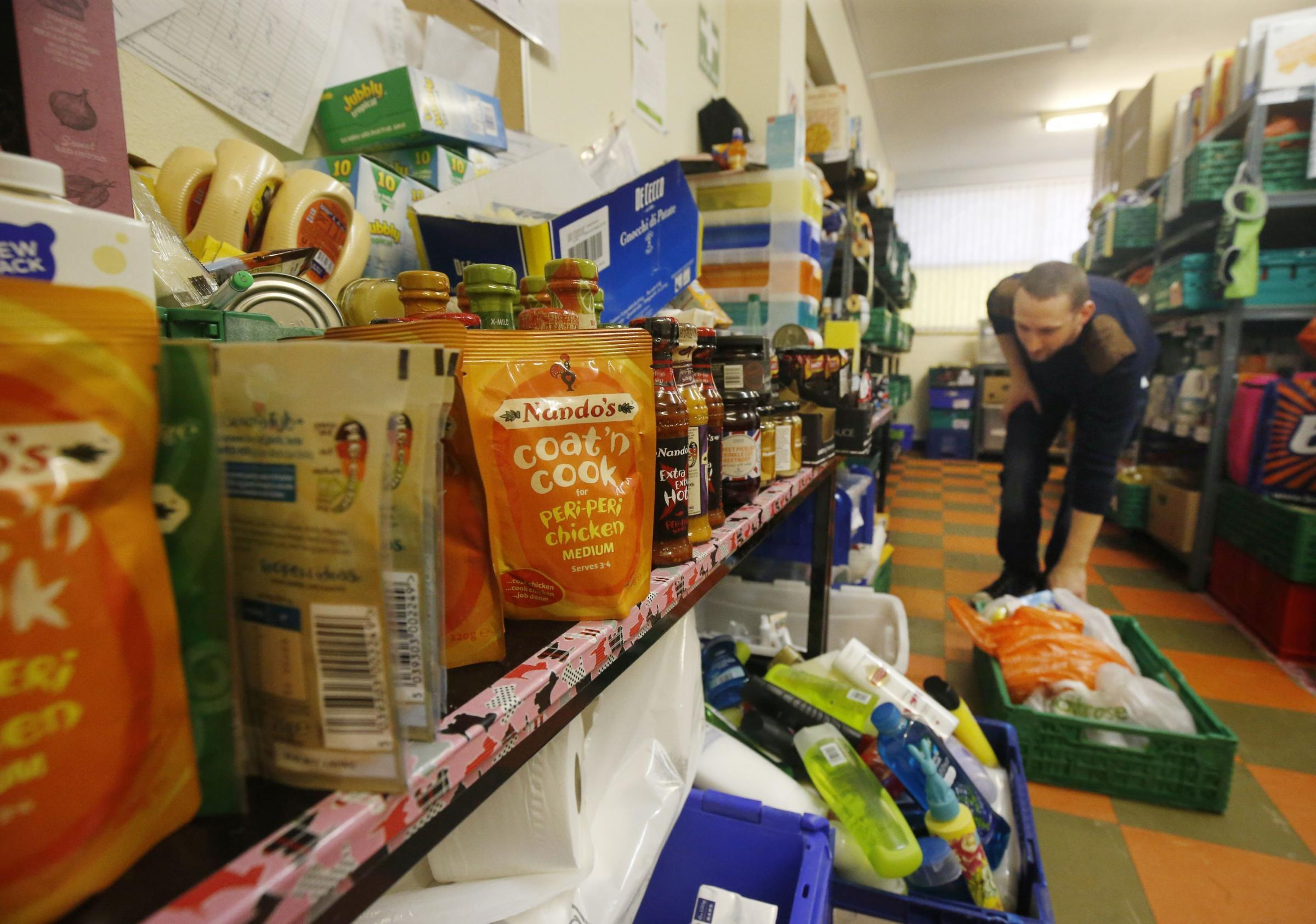 A Trussell Trust foodbank   Picture: Danny Lawson/PA Wire