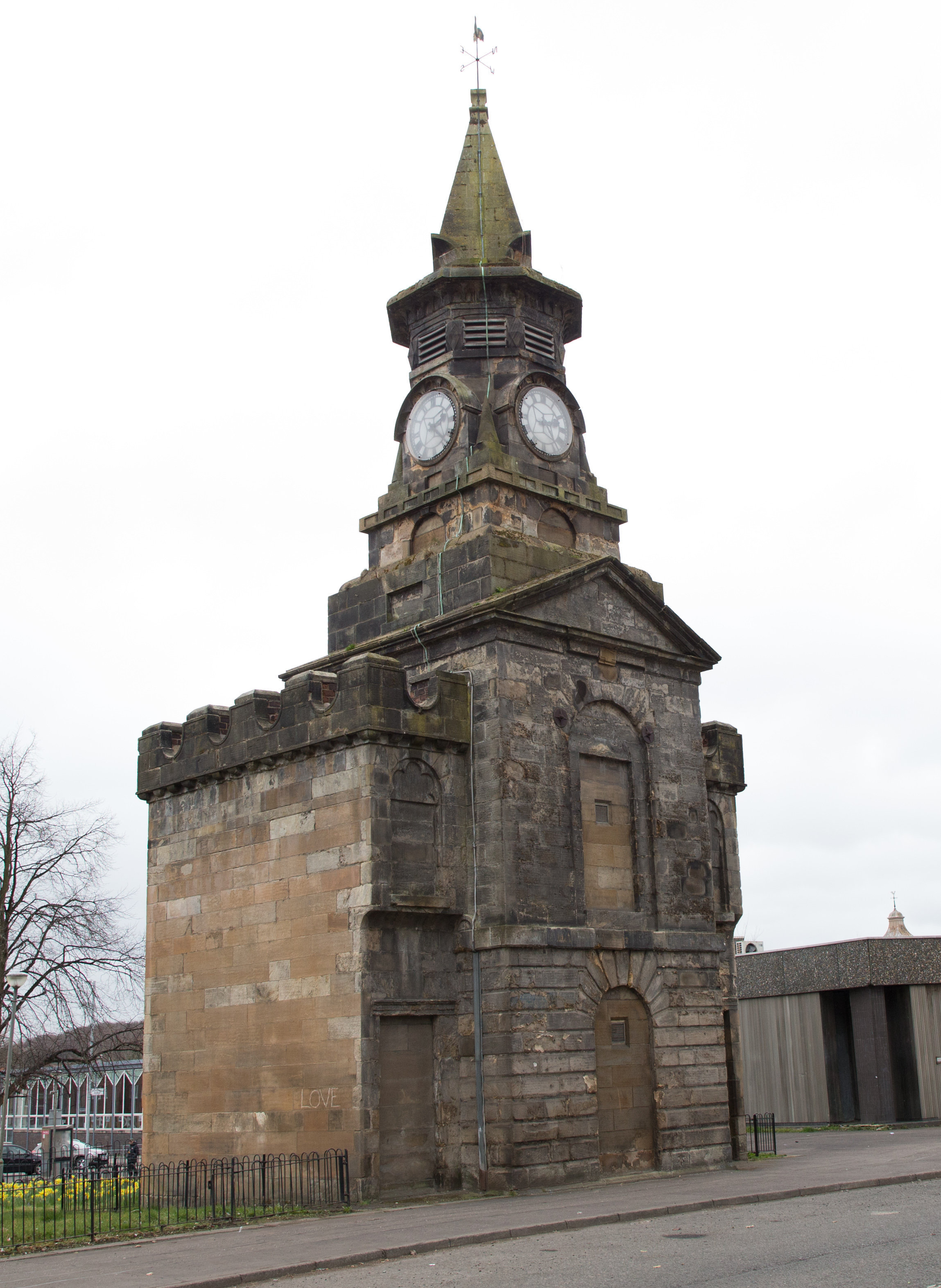 Thanks for the Memories .Pictured GV of the Old Clock Tower Pollokshaws.Muir Smith, 83, who grew up in Pollokshaws and has many, many memories of the area, particularly the Old Tollbooth...Mark F Gibson / Gibson Digital .infogibsondigital@gmail.co.uk.www.