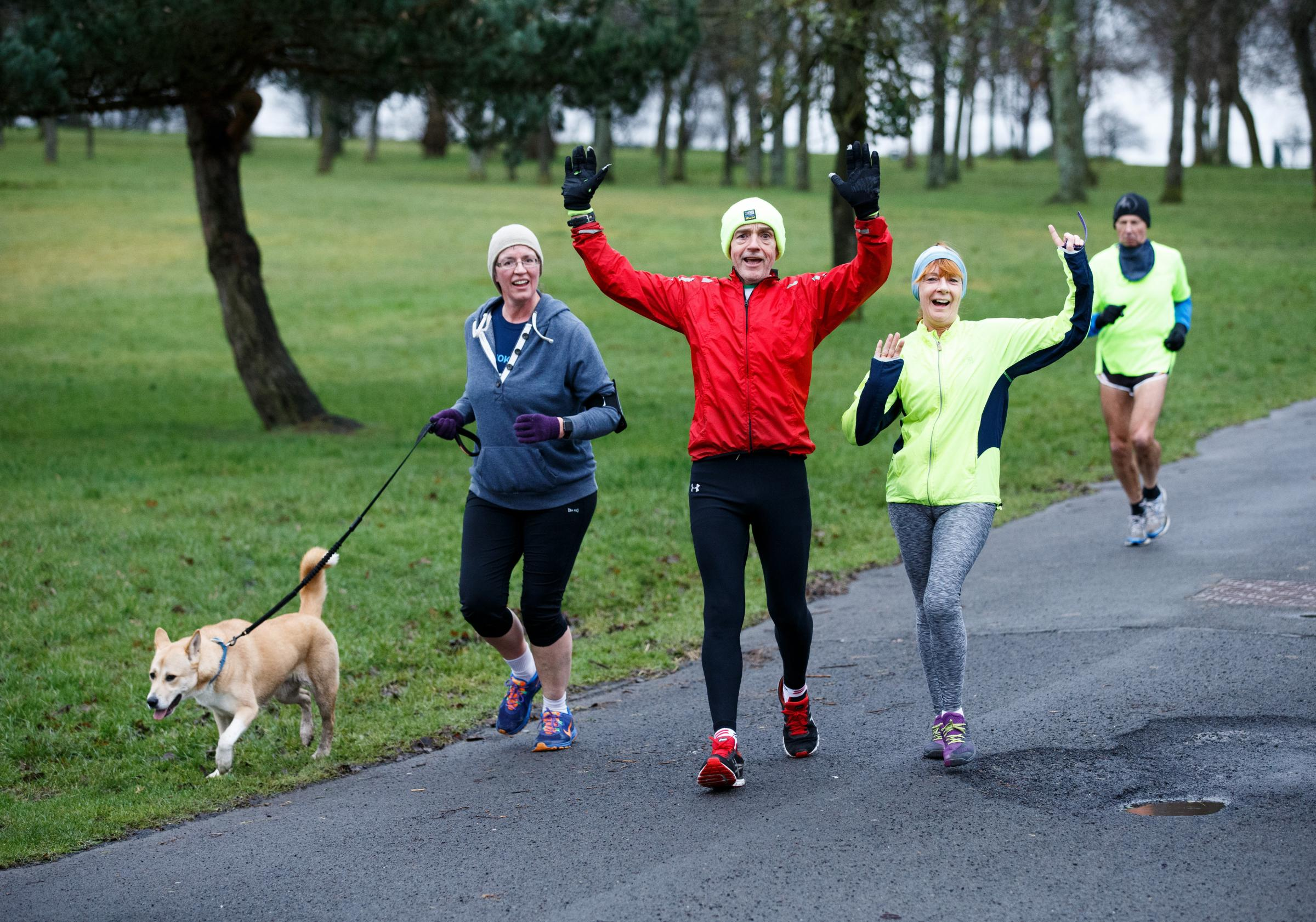 Parkrun in Springburn Park, Glasgow..Picture Robert Perry for The Herald and  Evening Times 3rd Feb 2017...