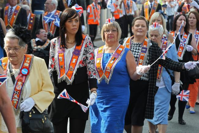 Women pictured at a Orange Parade, a separate event to the Ladies Day Parade
