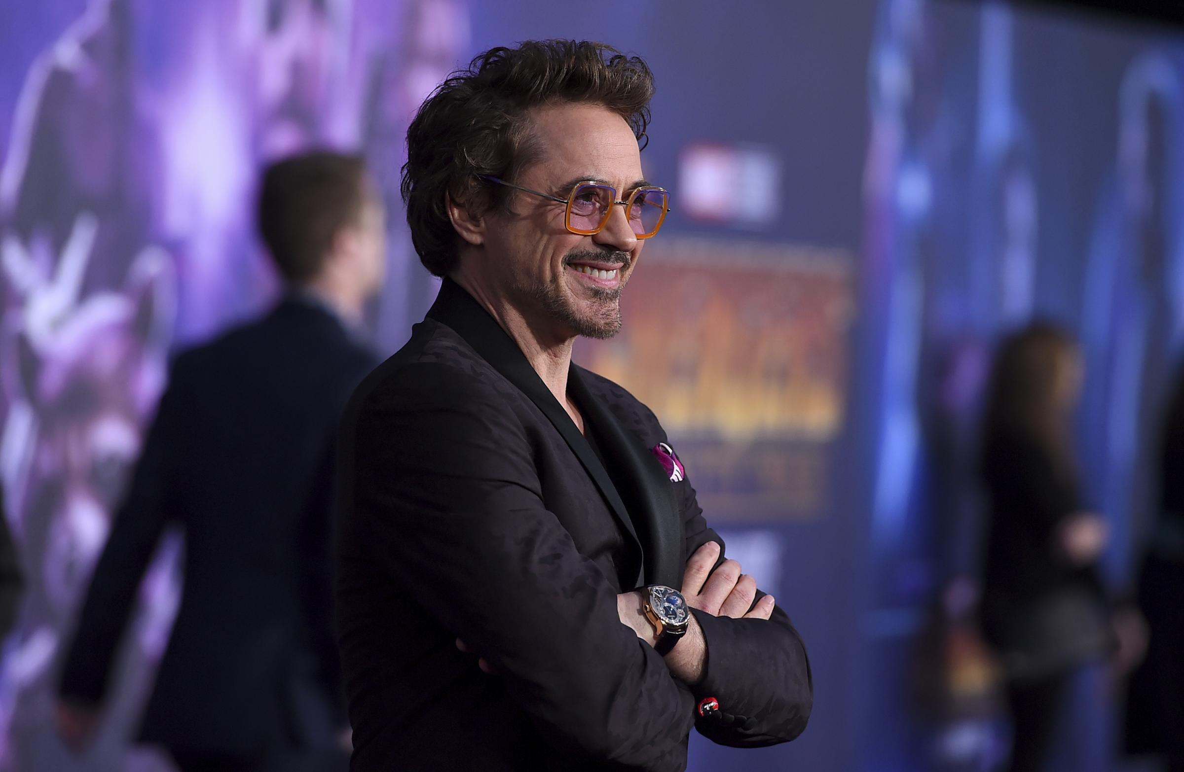 Robert Downey Jr. arrives at the world premiere of