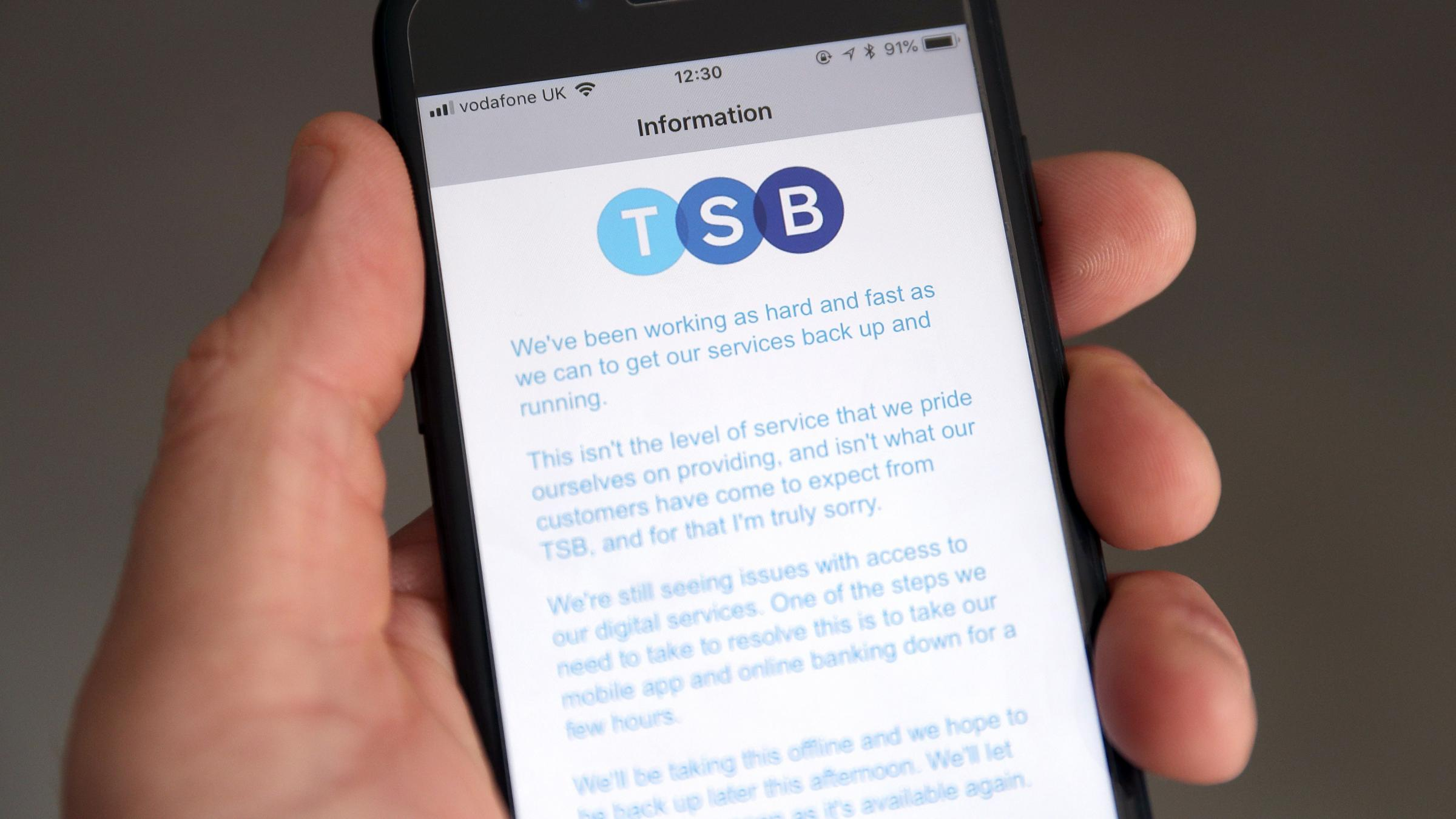 TSB internet banking operating at 50% capacity, says boss