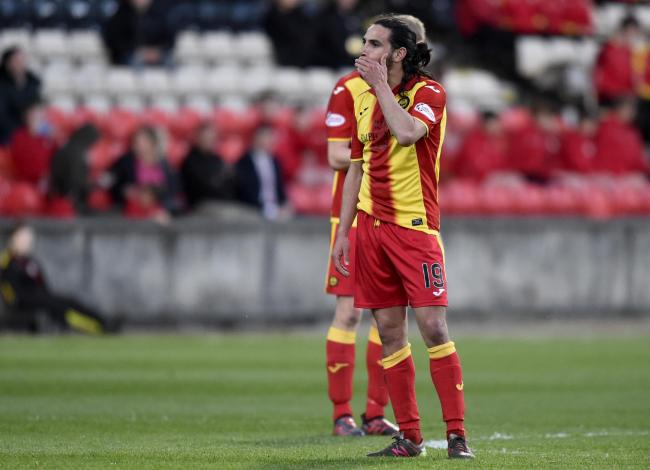 08/05/18 LADBROKES PREMIERSHIP. PARTICK THISTLE V MOTHERWELL. THE ENERGY CHECK STADIUM AT FIRHILL - GLASGOW. Partick's Ryan Edwards looks dejected after Motherwell took the lead.
