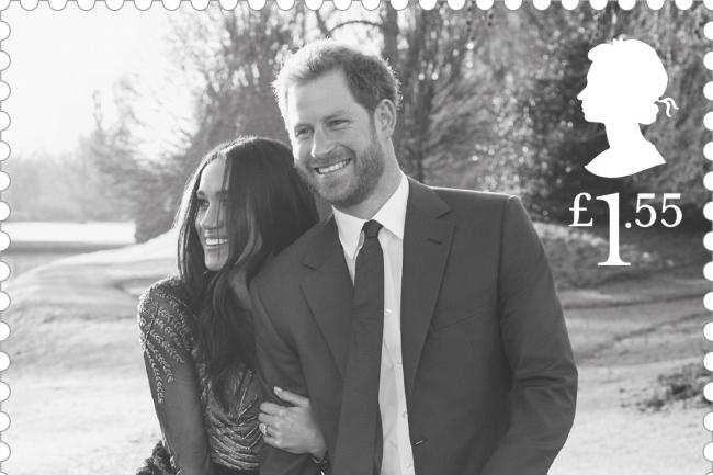 Prince harry and meghan markle in the celebratory royal wedding stamps royal mail pa