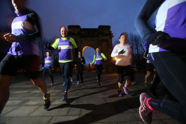 Members of  Bellahouston Road Runners pictured at Glasgow Green  Picture: Colin Mearns