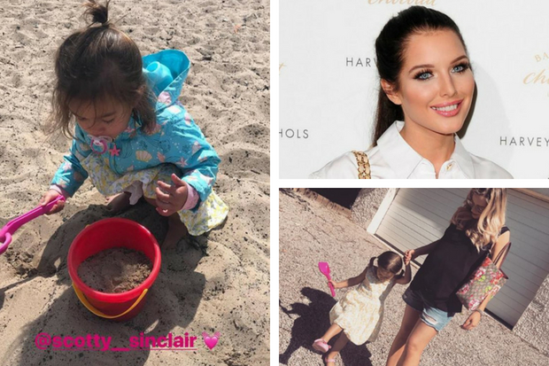 'I can now explore Scotland': Celtic WAG Helen Flanagan visits the seaside as Scott Sinclair wins double treble