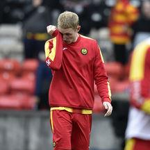 Chris Erskine sheds a tear as Partick Thistle are relegated.