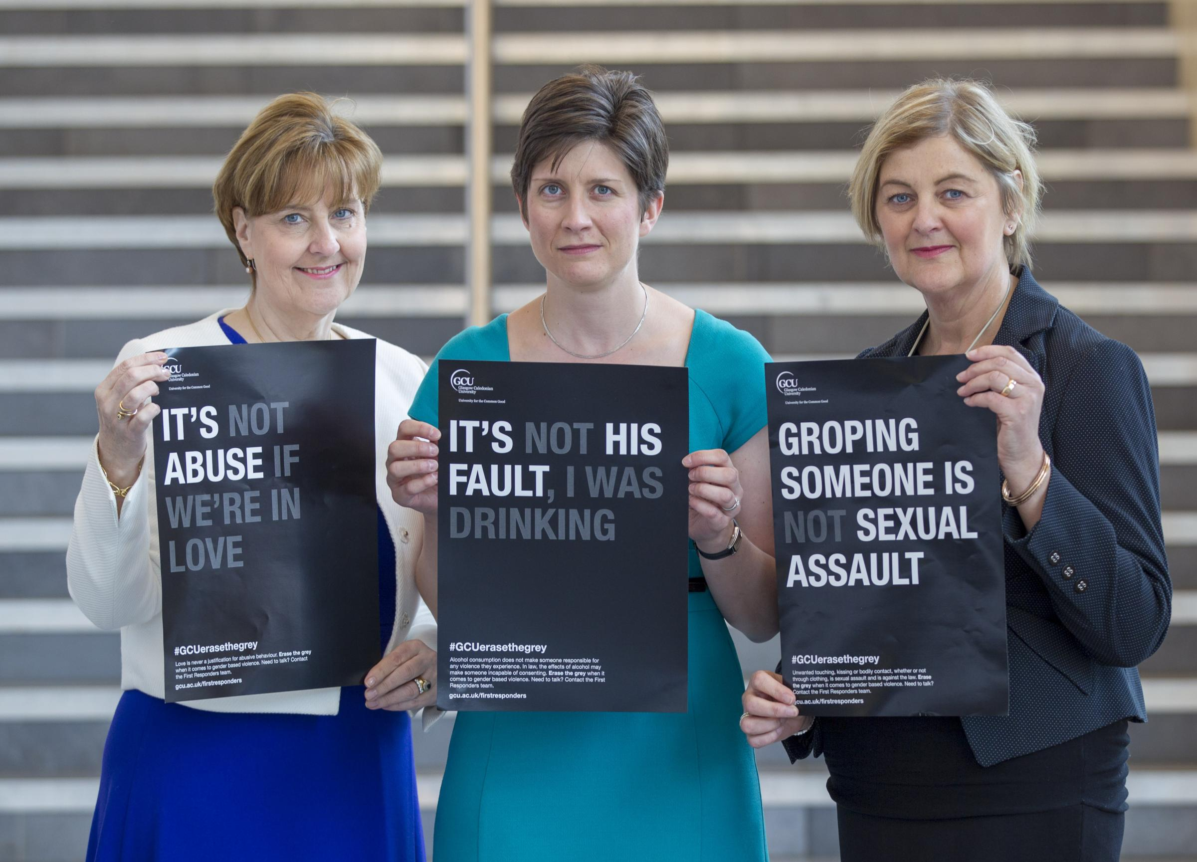 L/R Valerie Webster, Alison Thewliss MP and Jackie Main