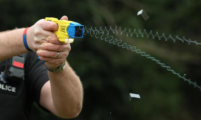 More than 500 cops begin their taser training