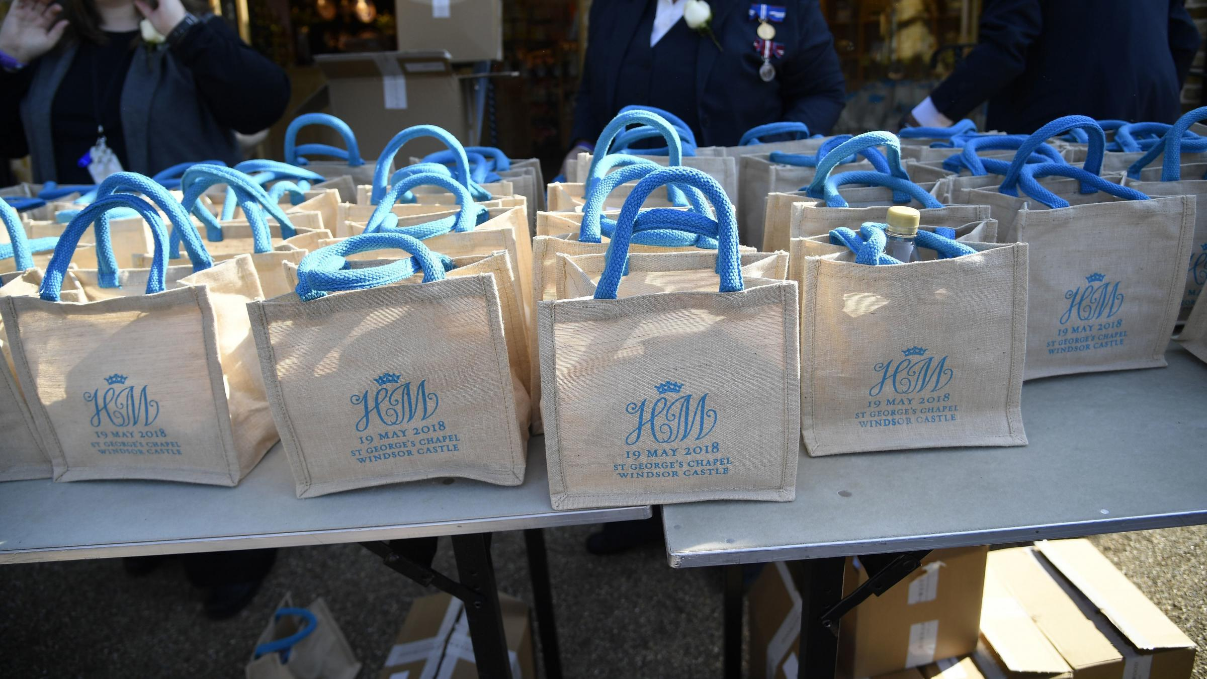 Royal wedding guests sell gift bags online