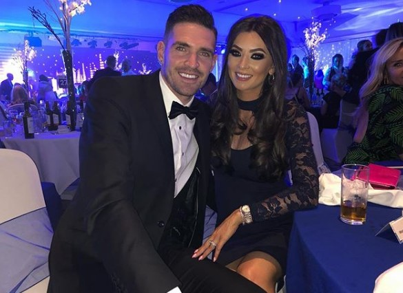 Ex-Rangers star Kyle Lafferty and his model wife Vanessa mark two year anniversary