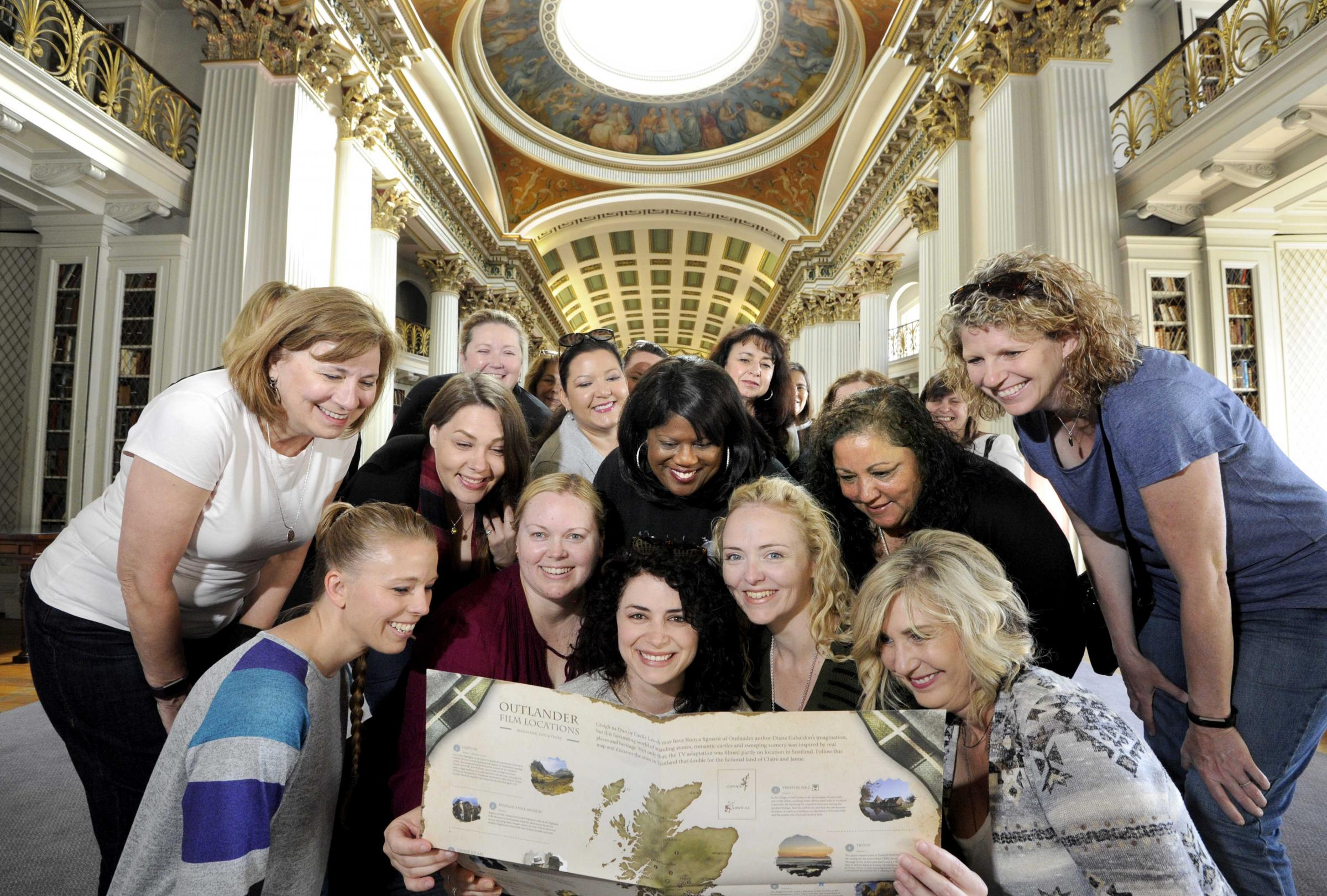Outlander Fans in The Signet Library, Edinburgh