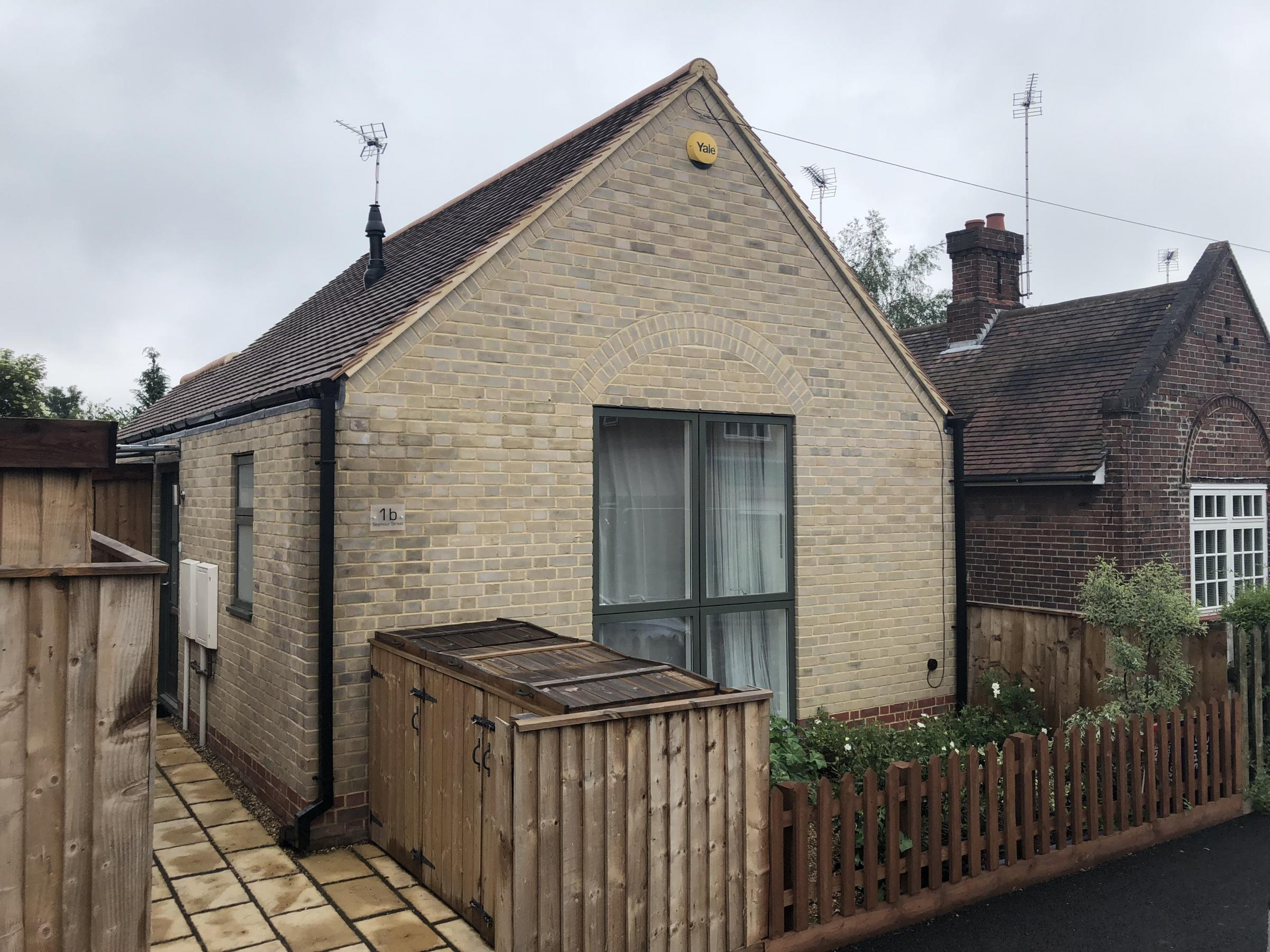 The tiny one-bedroom property in Seymour St, Cambridge which sold for £280,000. See Masons copy MNHOUSE: A 'rabbit hutch' house with just two rooms has sold for a whopping £280,000 - despite measuring just a titchy 11' by 8'7''.