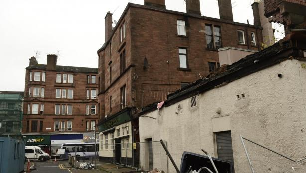 Benalder Street flats wall collapse