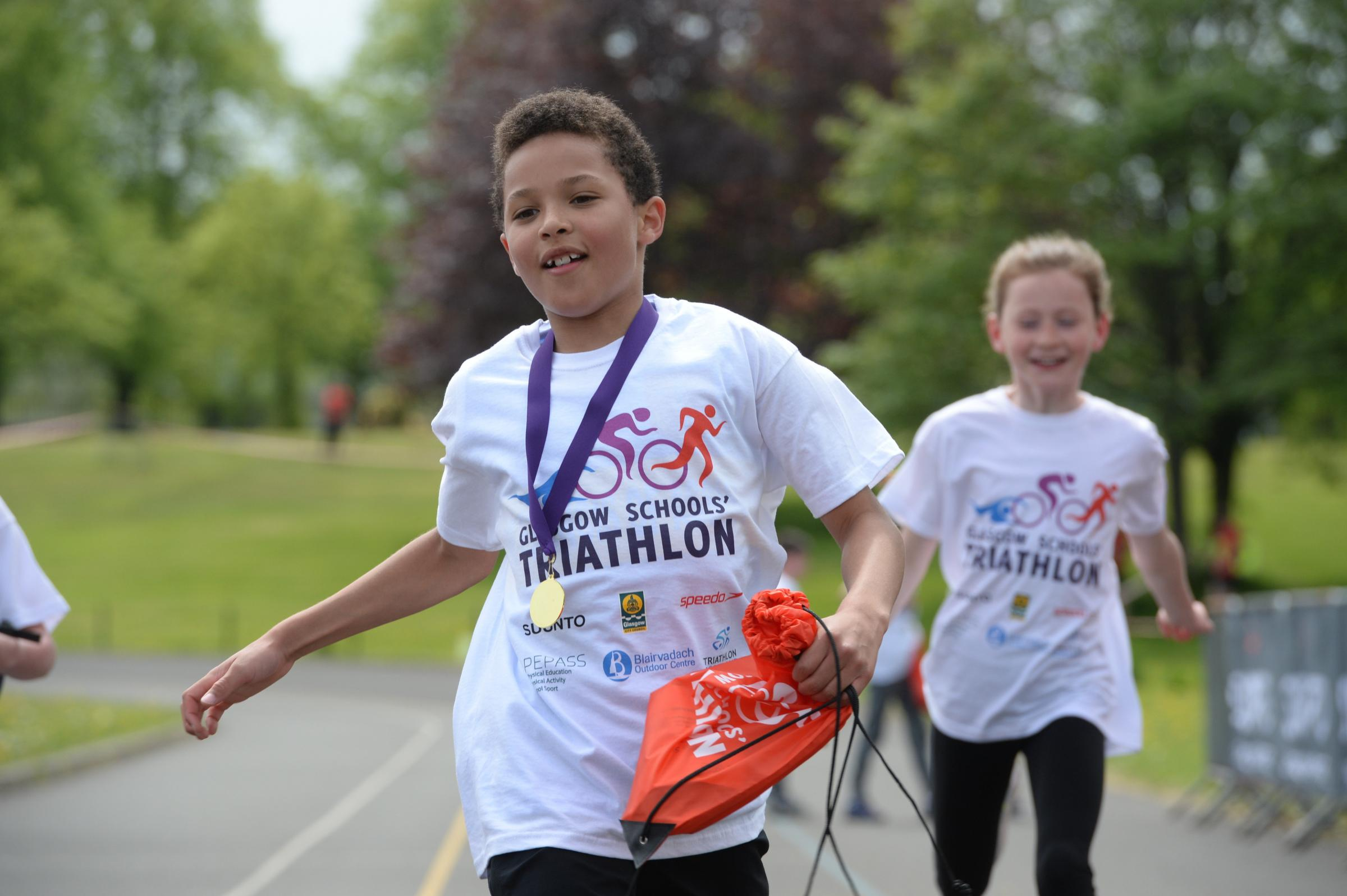 GLASGOW SCHOOLS TRIATHLON ..GLASGOW SCHOOLS TRIATHLON - 2nd Year ensuring that children and young people of the City have the opportunity to participate in events linked to sport in particular Glasgow 2018 European Championships...This event is organised