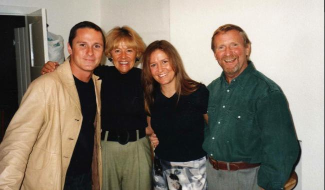 Moira with her brother Grant and parents Bea and Colin