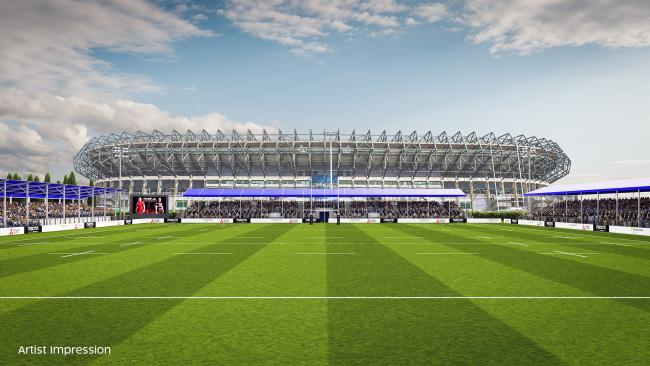 An artist's impression of the new stadium