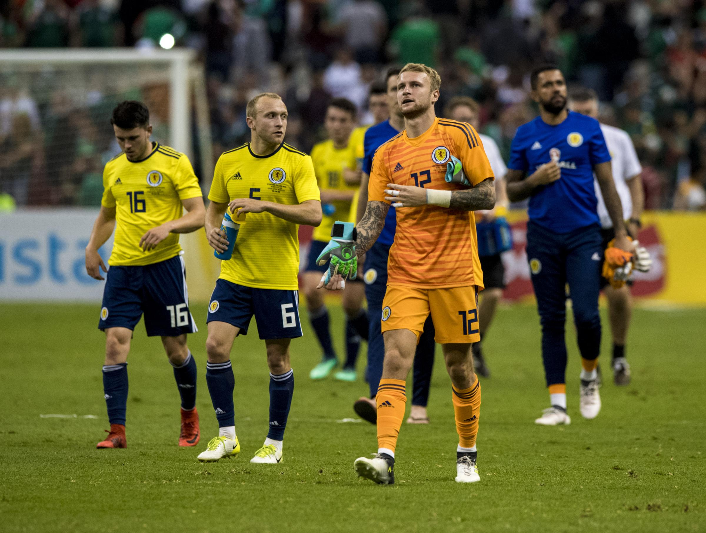 Scott Bain at the end of the match against Mexico