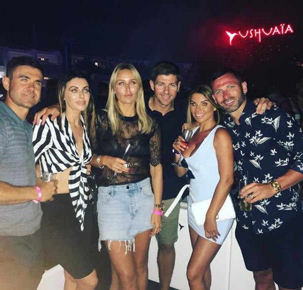 New Rangers Boss Steven Gerrard Parties In Ibiza With Ex Gers Flop
