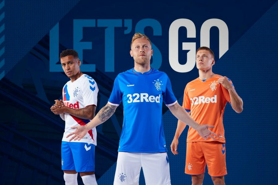 af6c8cfa2 In pictures  Rangers reveal new Hummel kits for 2018 19 season ...