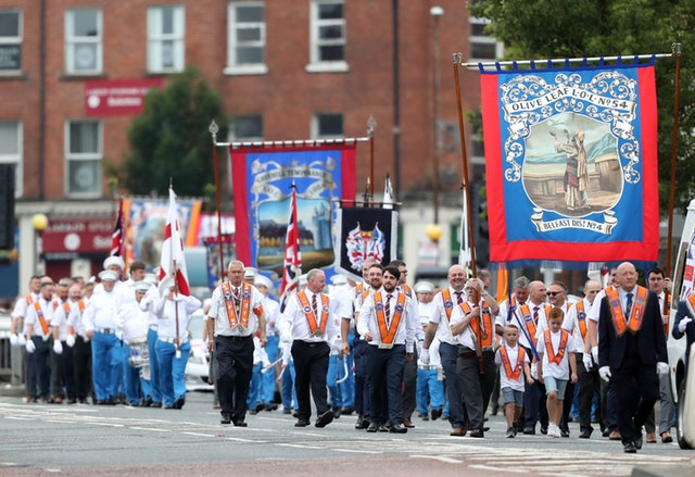 Once controversial Orange Order parade passes peacefully in Belfast